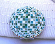 Disco Ball Golf Ball Marker with Crystals and Magnetic Hat Clip