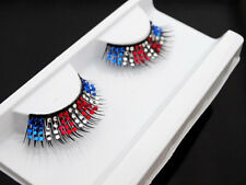 NEW 3 color Handmade Long Diamond Rhinestone Party Use Fake False Eyelashes