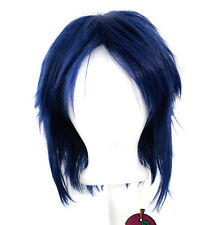 13'' Shaggy Messy w/ Long Bangs Midnight Blue Visual Kei Cosplay Wig NEW