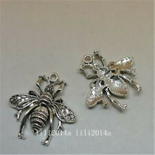 8pc Tibetan Silver bees Charm Beads Pendant accessories Findings  PL717