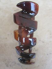 """Shell Zzz's Claw Clip Prong Fork Pin Salon Clip 3"""" New Made in France"""
