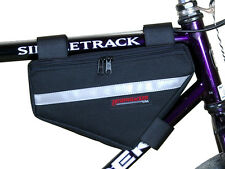 Bushwhacker Laredo Black Frame Bike Bag Top Tube Cycling Bag Bicycle Triangle