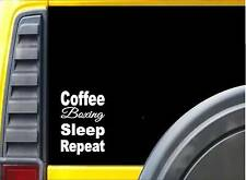 Coffee Boxing Sleep K847 8 inch Sticker decal