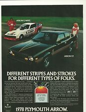 "1978 Don ""Snake"" Prudhomme Army Funny Car Plymouth Arrow GT Ad"
