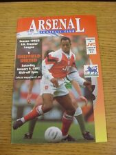 09/01/1993 Arsenal v Sheffield United  (Excellent Condition)