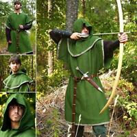 Huntingdon Green Over Tunic with Hood. Perfect Re-enactment Stage LARP & Costume
