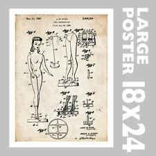 BARBIE DOLL US PATENT INVENTION PRINT 18X24 POSTER VINTAGE RYAN REPRO GIFT 1959