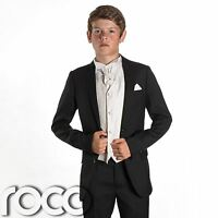 Boys Black Suit, Page Boy Suits, Prom Suits, Boys Wedding Suits, Ivory Waistcoat