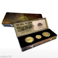 GALLIPOLI MEDALS COLLECTION IN ARTILLERY TIN ANZAC CENTENARY LIMITED EDITION