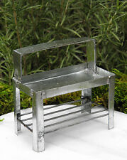 Miniature Dollhouse FAIRY GARDEN Furniture ~ Tin Potting Bench Table ~ NEW