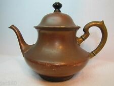 Antique ToC Brass & Copper Tea Pot Landers Frary Clark Connecticut Universal
