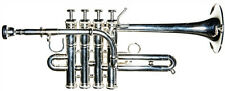 "New RS Berkeley TPPS625 Artist Piccolo Trumpet Silver Plated 4"" Bell Bb/A w Case"