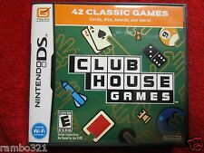 Club House Games  (Nintendo DS, DSI, 2DS, 3DS, NDS) card games  dominoes pool