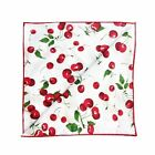 Decorative Cotton Tablecloth in Red Cherries on White Print 59X102""
