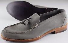 NWB 790$ ISAIA LOAFER shoes mocassino suede grey blake Italy eu 42 us 9 uk 8