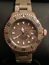 ToyWatch HY02DG Ceramic Rose Accent & Brown Case w/Orange Inner Strap Watch NEW!