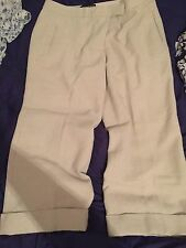Bianca Nygard Tan Nude Off White Dress Pants. Sparkles. 12