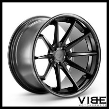 "22"" FERRADA FR4 BLACK CONCAVE WHEELS RIMS NEXEN TIRES FITS DODGE CHARGER"