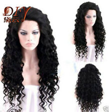 Women 's Long Curly Wig / Wigs Black Sexy Fashion New Party Cosplay Hair + Cap