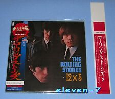 Rolling stones 12 x 5 Japon MINI LP CD + promo Obi