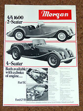 1981-82 MORGAN Sales Leaflet Brochure - Plus 8, 4/4 1600, 4-Seater (Ford/Fiat)