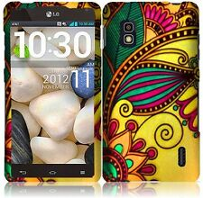 AT&T LG Optimus G E970 Rubberized HARD Case Snap On Phone Cover Antique Flower