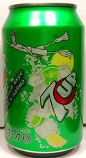 MT UNOPEN Genuine Russian Seven 7 Up 0.33ltr Russia 2009 Boy Snorkels in 7UP Sea