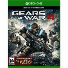 Gears of War 4 + Four Bonus Games for Xbox One S Console New Sealed Ships Fast !