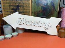 En bois danse arrow set signe formes 34cm (x1) découpe bois forme crafts blanks