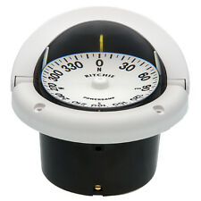 Ritchie HF-742 Helmsman Flush Mount Boat Compass White 12V Lighted Flat Dial