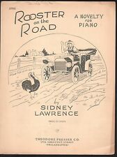 Rooster On The Road 1942 Novelty Easy Piano Sheet Music