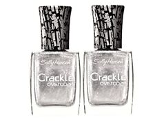 Lot of 2 SALLY HANSEN CRACKLE OVERCOAT - 0.4 FL OZ - BRAND NEW - FRACTURED FOIL
