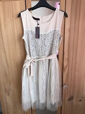 Brand New Ladies Cream Occasion Lace Dress XL 14-16 Bridesmaid Summer Wedding