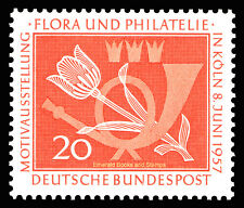 EBS Germany 1957 Stamp Exhibition Flora & Philately Cologne Michel 254 MNH**
