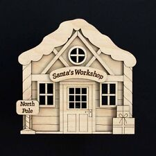 Wooden Christmas Santa Elf Workshop Magical Blank Festive Craft Kit