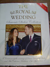 RARE ROYAL WEDDING PRINE WILLIAM KATE MIDDLETON 2011 STICKER BOOK ALBUM UNUSED