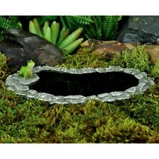 Miniature Fairy Garden Pollywog Pond with Frog /Faery Gnome Hobbit 16882