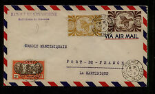 New  Caledonia  169,263.264 on cover to Martinique           KL0226