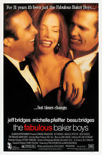 THE FABULOUS BAKER BOYS (1989) ORIGINAL MOVIE POSTER  -  ROLLED