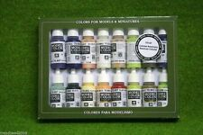 VALLEJO AMERICAN COLONIAL Model Colour 16 bottle set 70147