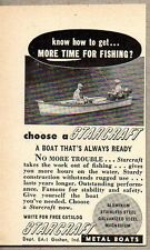 1953 Print Ad Starcraft Metal Boats Goshen,IN for Fishing