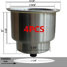 4X Hot Sale Stainless Steel Cup Drink Holder Marine Boat Car Truck Camper RV**