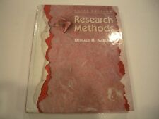 Research Methods by Donald H. McBurney (1993, Paperback)