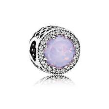 New Authentic Pandora Charm Bead Radiant Hearts Pink Crystal Clear 791725NOP