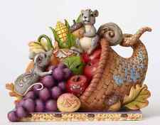 Jim Shore Thanksgiving Harvest Cornucopia w/Animal Friends Figurine ~ 4053855