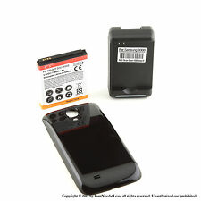 5600mAh Extended Battery for Galaxy S 4 IV i9500 Black Cover Dock Charger