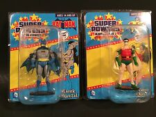 "DC SUPER POWERS MICRO FIGURES BATMAN & ROBIN 2"" MINI FIGURE LOT GENTLE GIANT LTD"