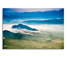 120x80cm Leinwandbild auf Keilrahmen Landschaft China Wolken Nebel