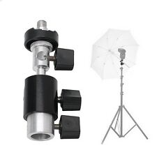 360 Swivel Type D Flash Bracket Hot Shoe Umbrella Stand Holder Tripod 1/4 3/8