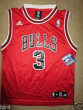 Ben Wallace #3 Chicago Bulls NBA adidas Jersey Youth M 10-12 NEW